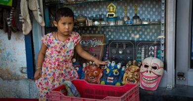 дети, Индия, маски