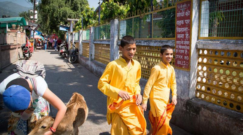 Ученики гурукулы. Ришикеш. Индия