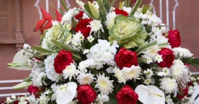 Свадебный букет цветов. Джайпур. Индия