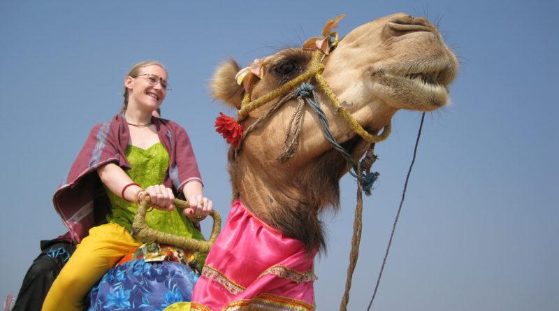 Катание на верблюде. Южная Индия