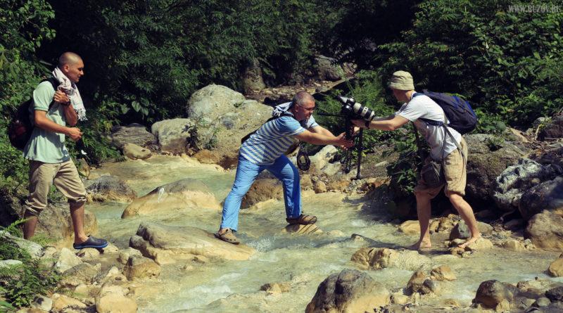 Ришикеш, водопад, река, переправа