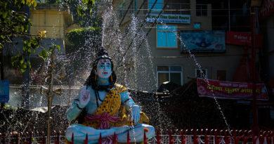 Статуя Шивы. Ришикеш. Индия